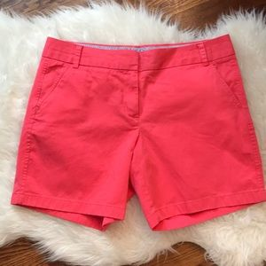 """J. Crew 5"""" Chino Shorts in Coral Pink"""